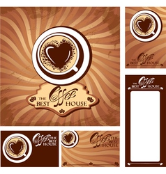 coffee heart menu 380 vector image