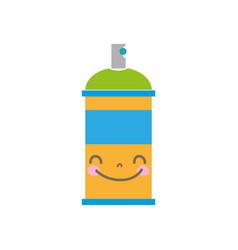 Colorful kawaii cute happy aerosol spray vector