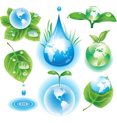concept of ecology symbols vector image