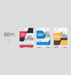 corporate business flyer poster pamphlet brochure vector image