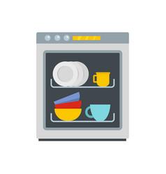 Dishwasher icon flat style vector