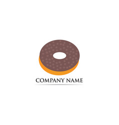 donuts logo template vector image
