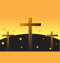 easter crosses vector image