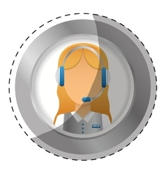 Emblem customer support Icon image vector