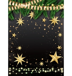 Empty Christmas Greeting Card vector image