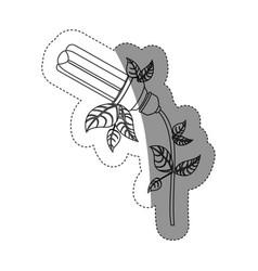energy-saving light bulbs plant icon vector image