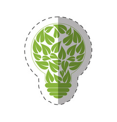 environment leaves shape bulb natural vector image