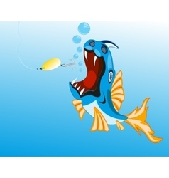 Fish sails for spoon bait vector