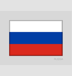 Flag of russia national ensign aspect ratio 2 to vector