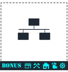 Flowchart icon flat vector image