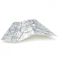 Folding map vector