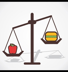 Fruit is good for health than fast food vector