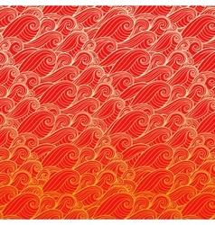 Golden waves Design banner vector image vector image
