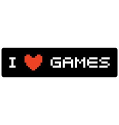 I love games label vector