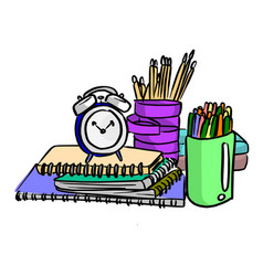 items for students using in the school vector image