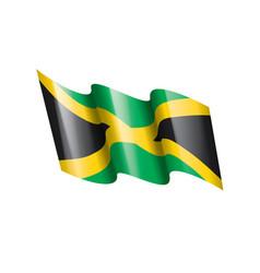 jamaica flag on a white vector image