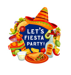 let fiesta party mexican cinco de mayo holiday vector image