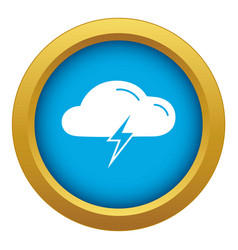 light bolt battery icon blue isolated vector image