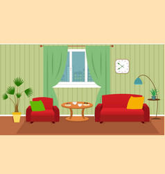 living room interior including furniture vector image