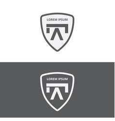 logo icon with shield vector image