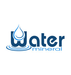 logo mineral water vector image