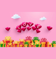 Love and gift vector
