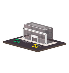 low poly shopping mall vector image