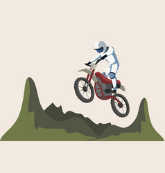 Motorcycle sport flat isolated vector