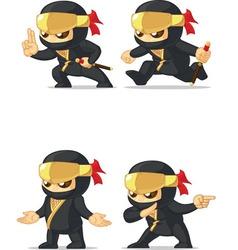 ninja customizable mascot 15 vector image