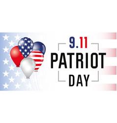Patriot day card usa balloons banner vector