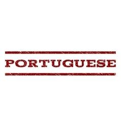 Portuguese Watermark Stamp vector