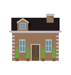 pretty house icon vector image