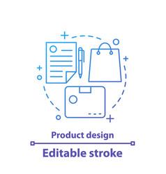 Product design concept icon vector