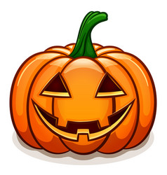 pumpkin with smile face vector image