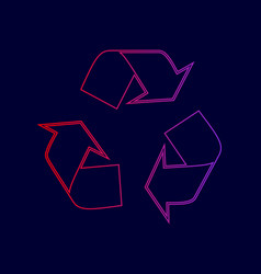 recycle logo concept line icon with vector image