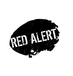 Red alert rubber stamp vector