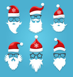 santa face wearing vector image