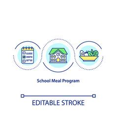 School meal program concept icon vector
