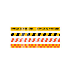 security red yellow white black stripe set vector image