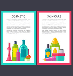 set of cosmetic and skin care vector image