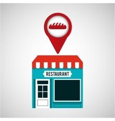 Smartphone bakery store app location vector