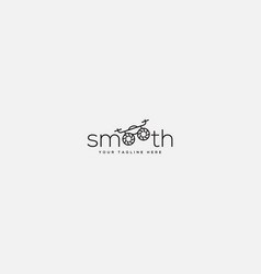 smooth typography logo drone lettering logo drone vector image