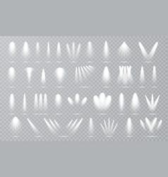 spotlight set collection on transparent bakground vector image