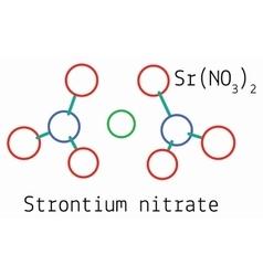 SrN2O6 Strontium nitrate molecule vector image