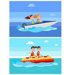 summer recreation collection vector image