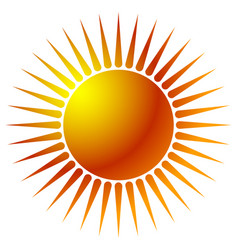 sun clip-art with warm orange gradient sun icon vector image
