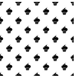 sweet cupcake pattern seamless vector image