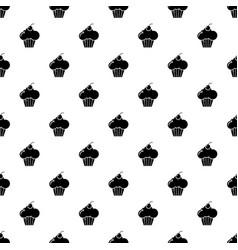 sweet cupcake pattern seamless vector image