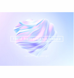 trendy realistic pattern with holographic 3d shape vector image