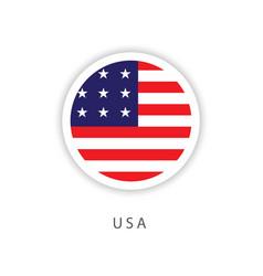 Usa circle flag template design vector